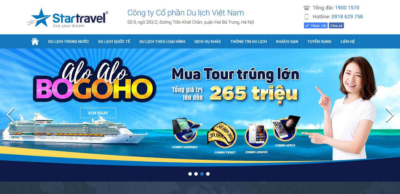 Mẫu Thiết Kế Website Du Lịch - Ngành Lữ Hành 01